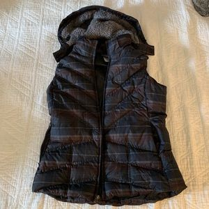Patagonia women's down vest, removable hood